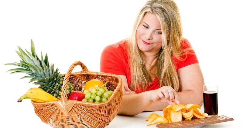Woman Having Junk Food
